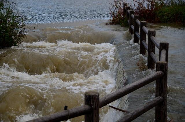 台風による河川氾濫