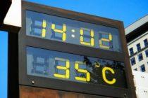 屋外の温度計