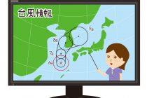 台風と天気予報