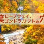 紅葉のロープウェイ・ゴンドラ・リフトの穴場12選(関東近県)