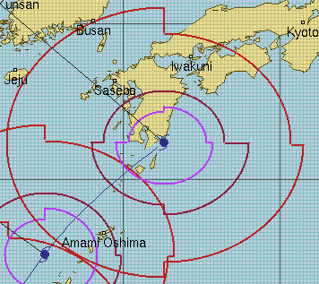 JTWCの強風域・暴風域範囲の基準